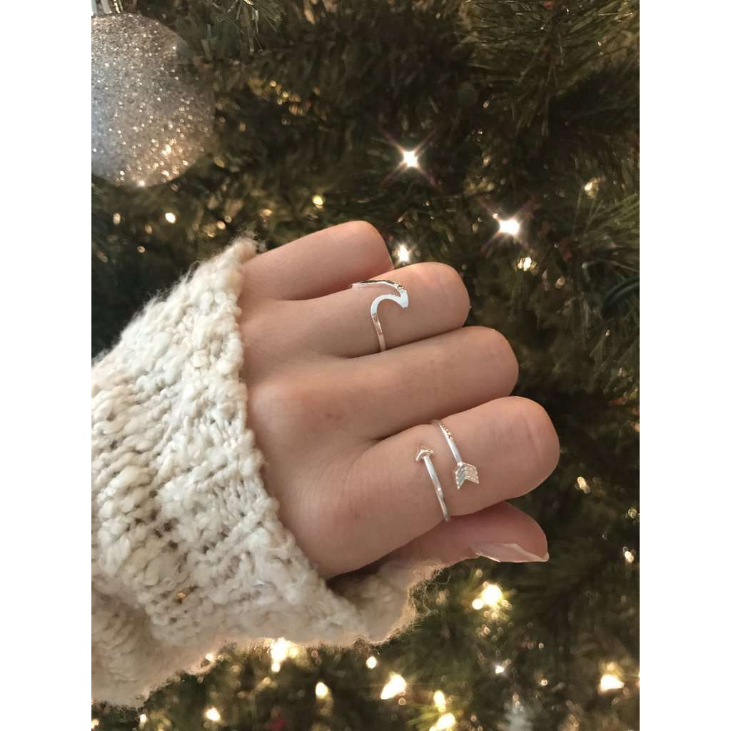 Arrow & Wavy Rings Bundle - Holistic Bear