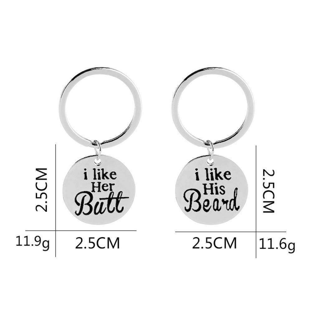 Beard & Butt Keychains - Holistic Bear
