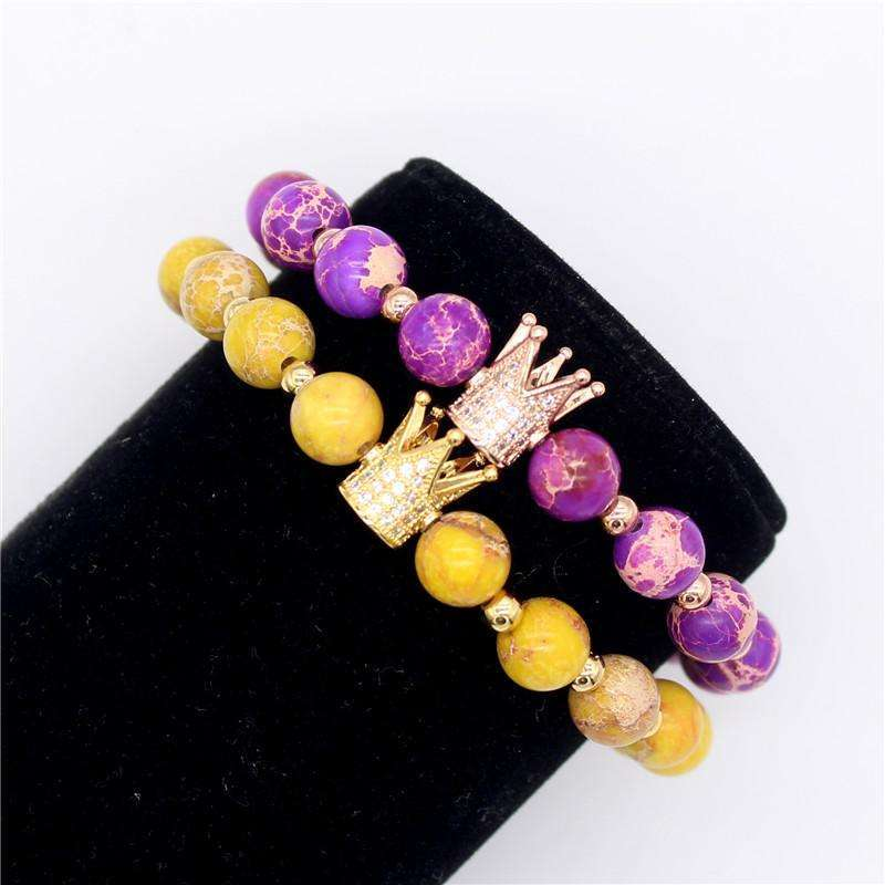 Crown Lover Bracelets (Stacked) - Holistic Bear