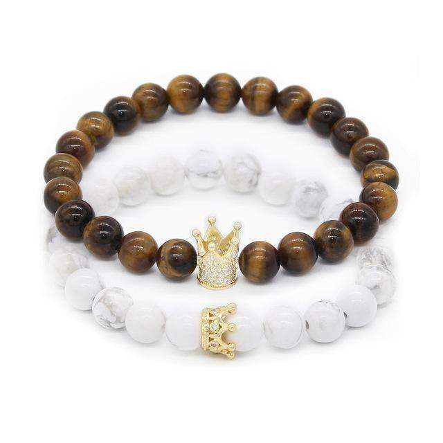 Crown Stacked Bracelet - Holistic Bear