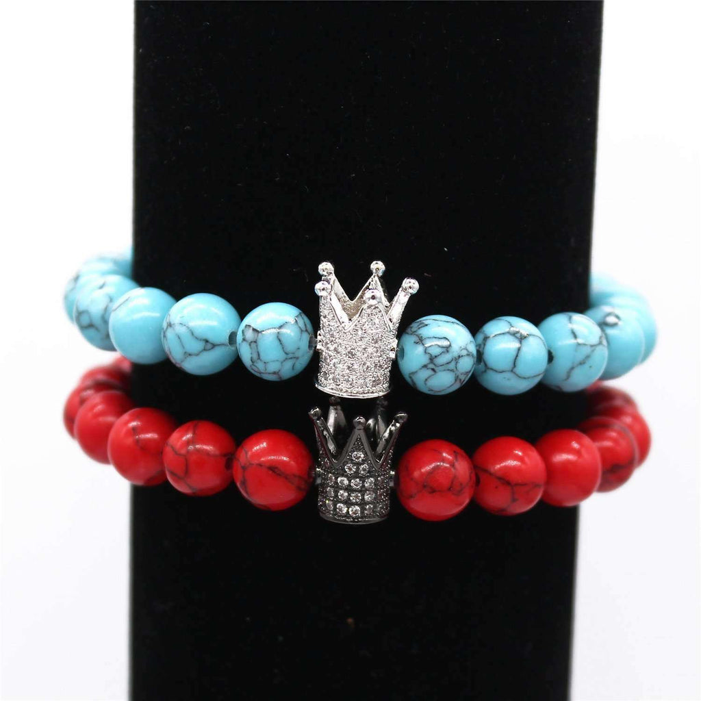"""Crown Stacked Bracelets"" - Limited Edition - Holistic Bear"