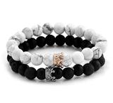 Crown Stacked Bracelets ™ (Sideways) - Holistic Bear