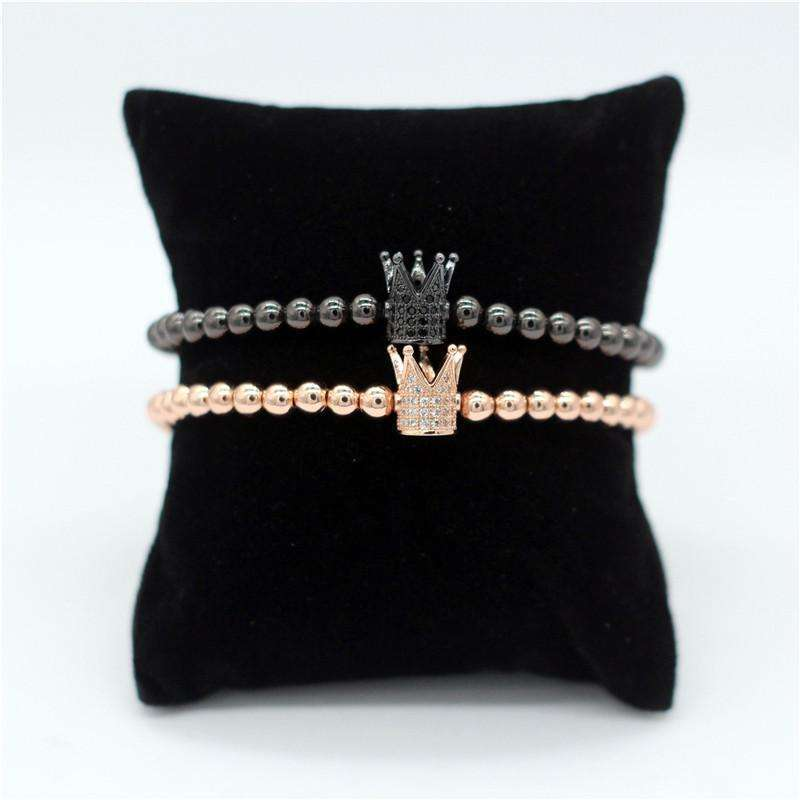 Crown Stacked Bracelets (Beads Edition) - Holistic Bear