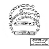 Custom King & Queen Bracelets - Holistic Bear