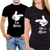 I'm hers & He's Mine Couple Shirts - Holistic Bear