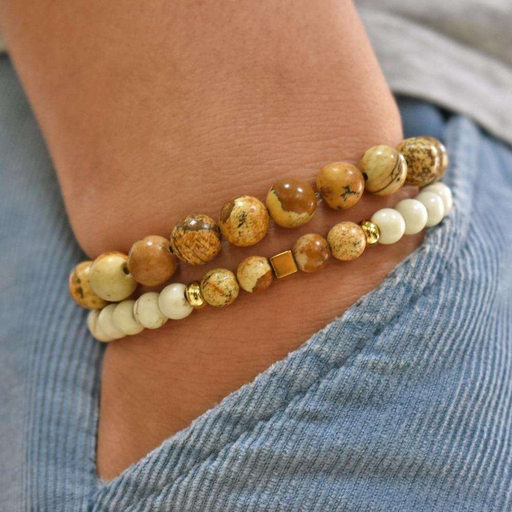 Natural Charm Bead Bracelets - Holistic Bear