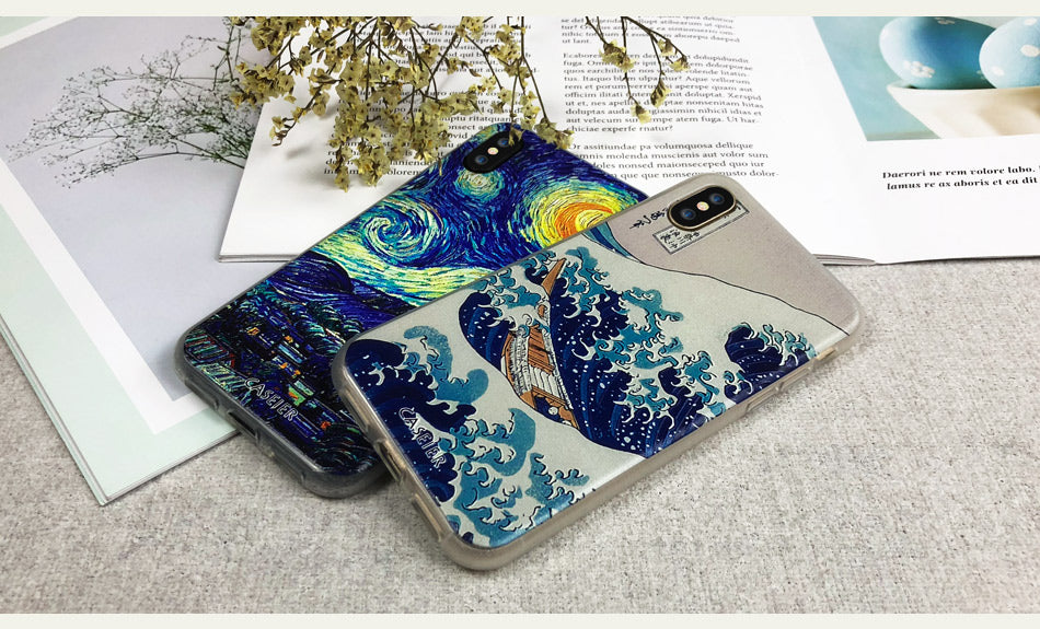 Phone Cases - 3D Starry Night Soft TPU Silicone Cover for iPhone