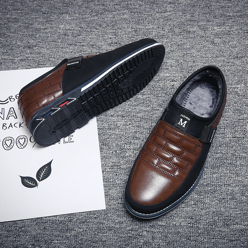 Hot Sale Men's Leather Slip On Shoes