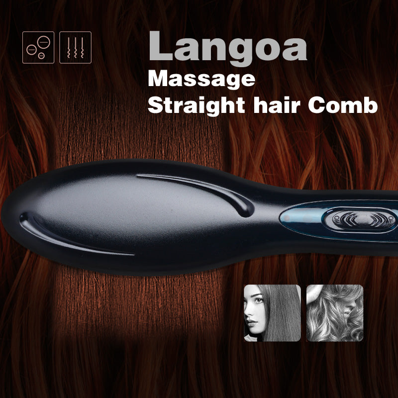 Hair Straight Ceramic Electric Brush