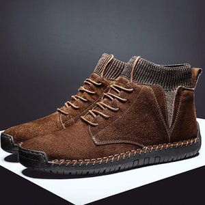 New Men Fashion Fur Flock Boots