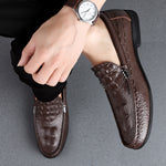 Men's Crocodile Dress Leather Shoes