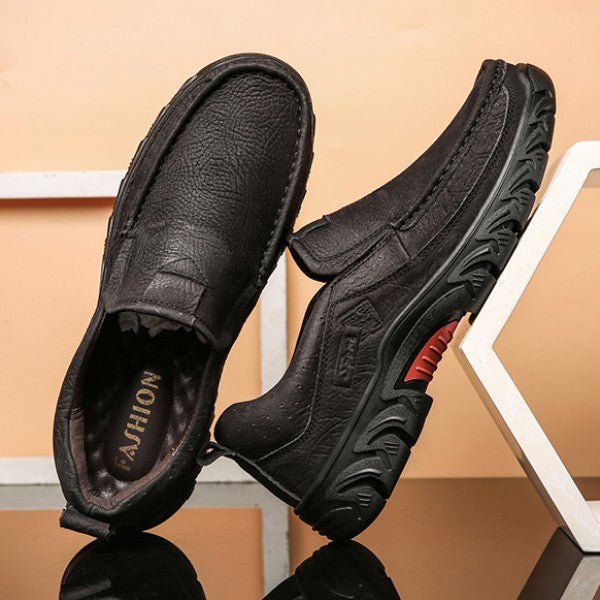 Men Cow Leather High Quality Casual Shoes
