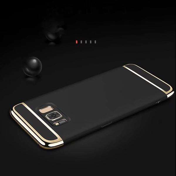 Phone Case - 3 in 1Plating Back PC Case For Samsung Galaxy S8 S8Plus