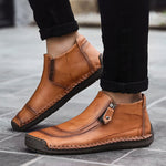 Quality Split Leather Ankle Boots