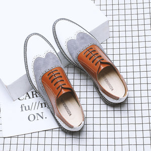 New Mixed Colors Cow Leather Formal Shoes