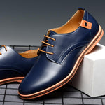 New Men Flat Soft Leather Shoes