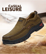 Genuine Leather Men Solid Spring Autumn Slip On Casual Shoes