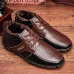 Men Winter Split Leather Boots