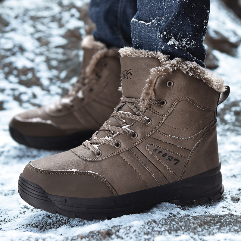 2019 New Men Fashion Genuine Leather Boots
