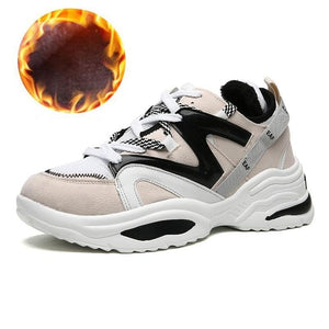 New-Cushioning Height Platform Plush Sports Shoes