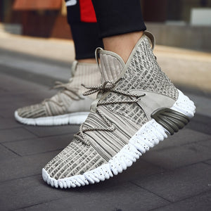 2019 New Men Knit Upper Breathable Sports Shoes