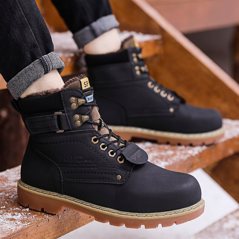 Military Style Warm Waterproof Ankle Boots
