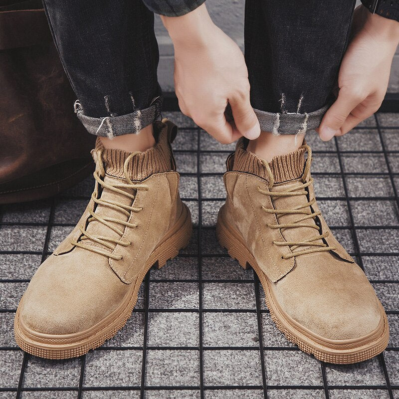 2019 New Men's British Style Boots