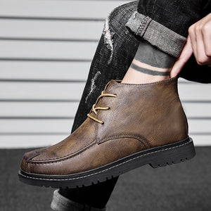Men's Waterproof Warm Fur Snow Boots