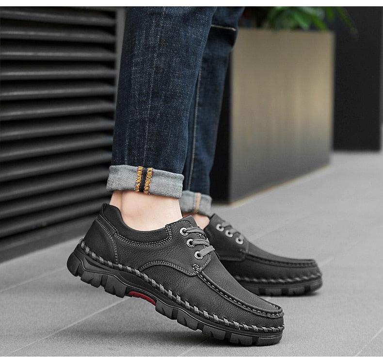 New High Quality Men's Leather Casual Shoes