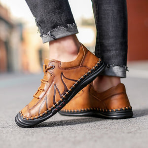 Soft Breathable Leather Handmade Loafers