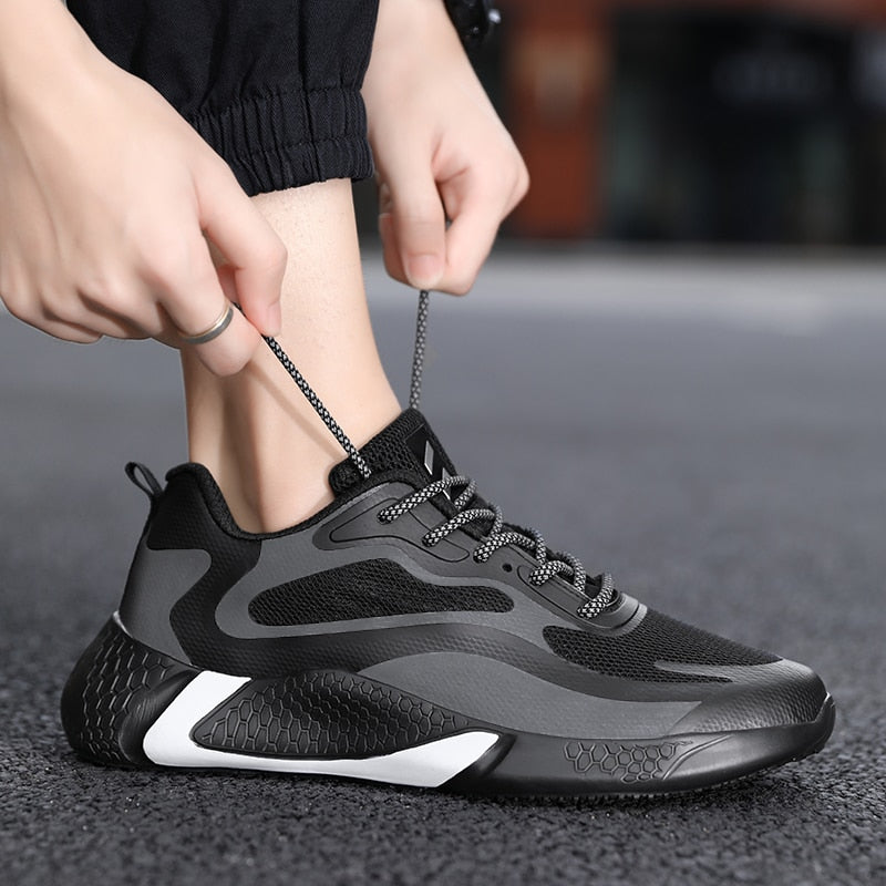 Flyknit Lace-up Men Shoes