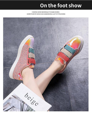 Women Colorful Velcro Flats
