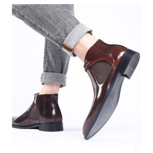 Men Brogue Casual Ankle Boots