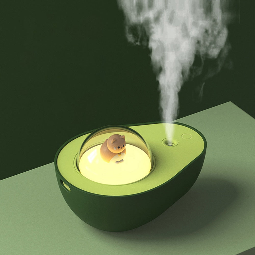 Cute Avocado Lamp USB Rechargeable Humidifier