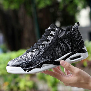2019 New Men's Fashion Camouflage Graffiti Mesh Casual Shoes