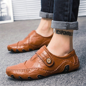 Genuine Leather Flat Shoes For Men