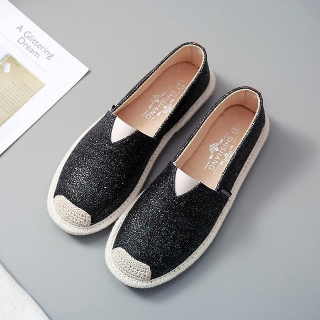 Women Paillette Spring Flat Shoes