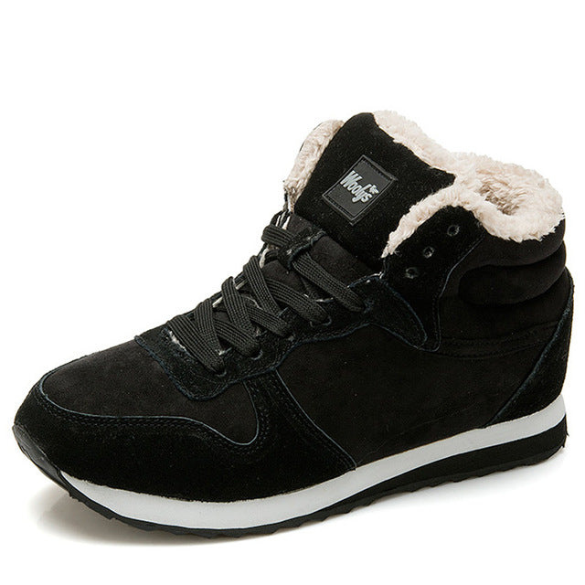 Shoes - Winter Boots Men Fashion Fur Flock Winter Shoes