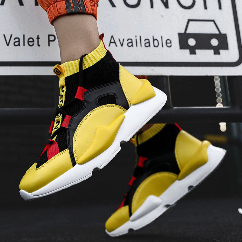 Men's Yellow Fashion Sneakers