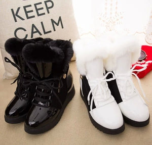 Women Winter Warm Fur Plush Platform Shoes