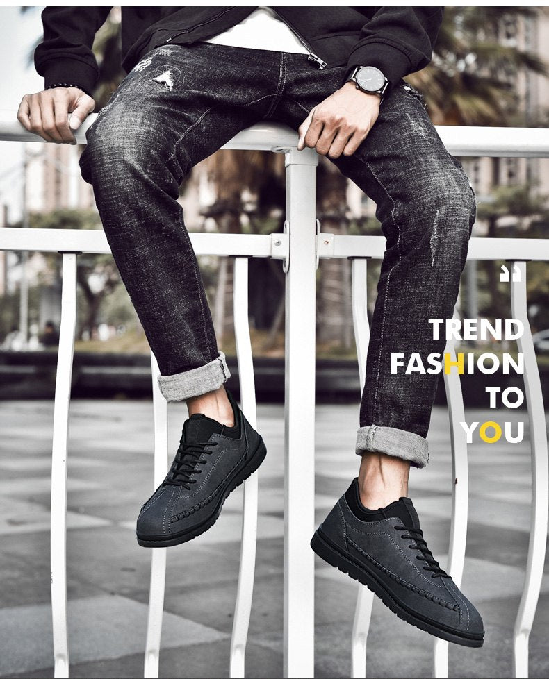 Leather Fashion Men Casual Shoes