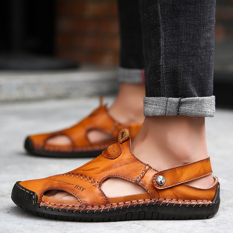 Men Comfortable Leather Sandals