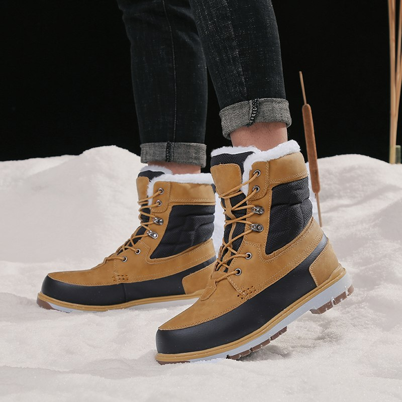 Men's Warm Plush Fur Snow Platform Boots