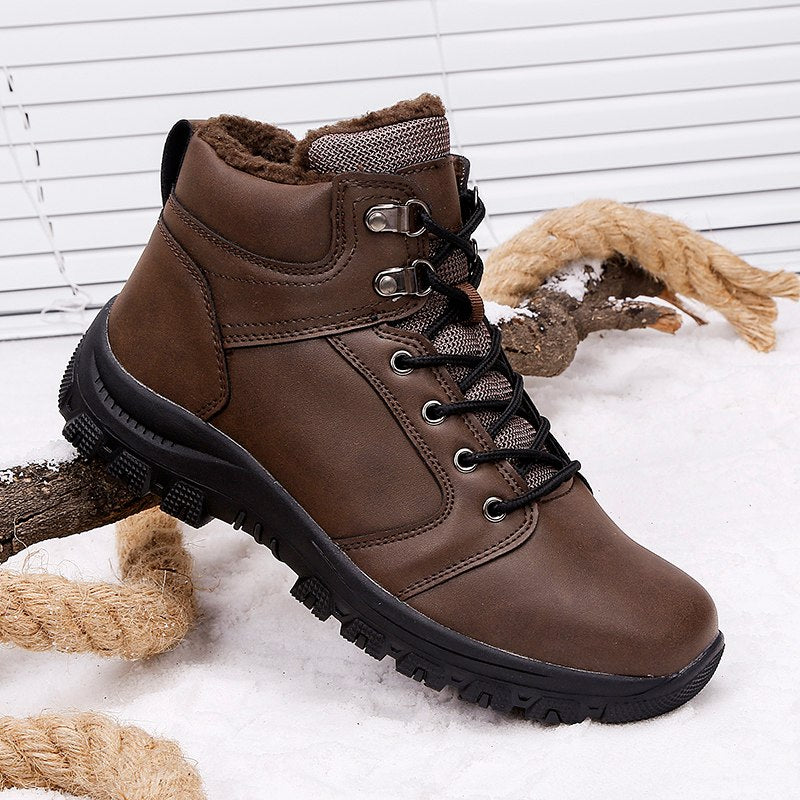 Men's Winter Leather Ankle Boots