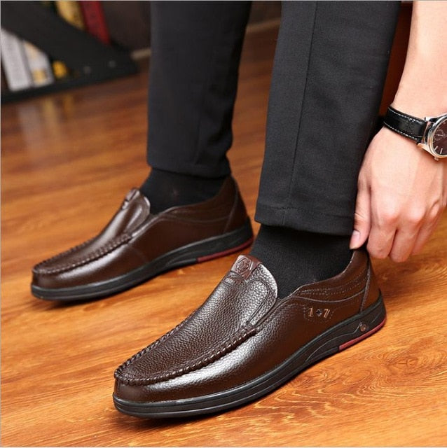2019 New Men's Plus Size Casual Leather Shoes