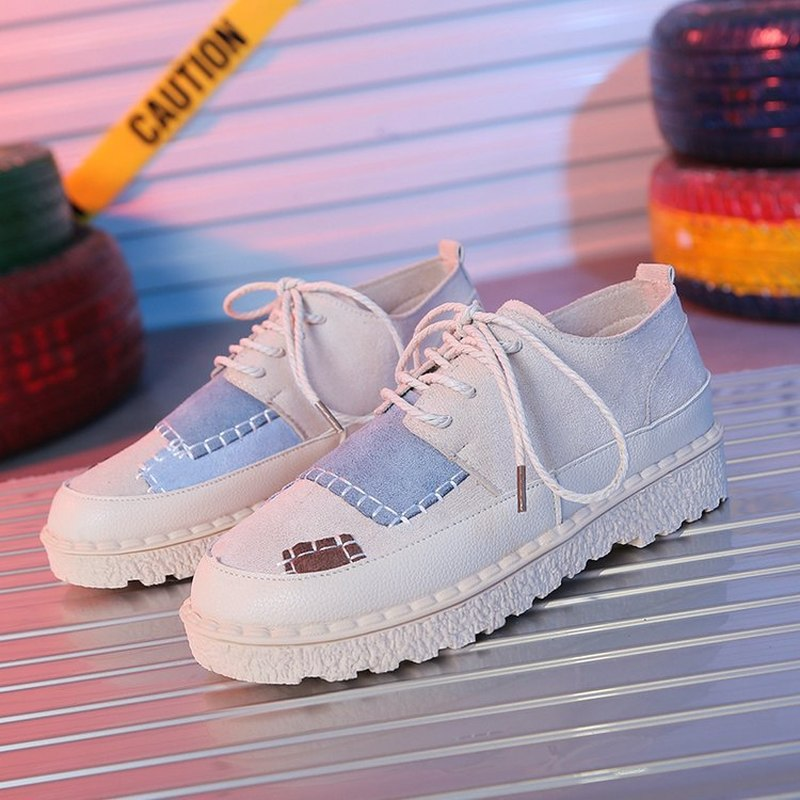 New Wild Trendy Patchwork Cotton Shoes