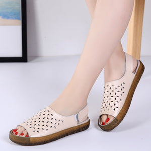 Women's Split Leather Hole Shoes