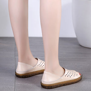 2019 New Genuine Leather Handmade Ladies Shoes