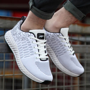 Weaving Fly Mesh Breathable Light Soft Sneakers