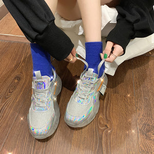 Women Fashion Bling Casual Dad Shoes